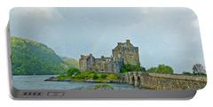 Eilean Donan Castle Textured 2 Portable Battery Charger