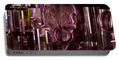 Einstein In Crystal - Purple Portable Battery Charger