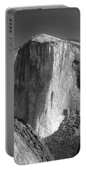 106663-el Capitan From Higher Cathedral Spire, Bw Portable Battery Charger