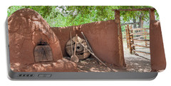 Portable Battery Charger featuring the photograph El Rancho De Las Golondrinas by Roselynne Broussard