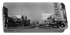 El Rey Theater Main Street Salinas Circa 1950 Portable Battery Charger
