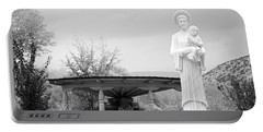 El Santuario De Chimayo Sculpture Garden 2 Portable Battery Charger