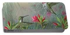 Portable Battery Charger featuring the painting Elegance  by Mike Brown
