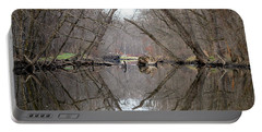 Portable Battery Charger featuring the photograph Eldon's Reflection by Bruce Patrick Smith