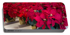 Elegant Poinsettias Portable Battery Charger by Patricia Babbitt