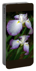 Portable Battery Charger featuring the photograph Elegant Purple Iris by Marie Hicks