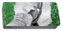 Portable Battery Charger featuring the painting Elephant 1 by Jeanne Fischer