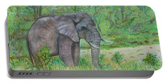 Elephant At Kruger Portable Battery Charger