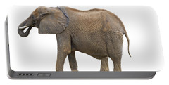 Portable Battery Charger featuring the photograph Elephant by Charles Beeler