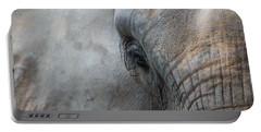 Elephant Portrait Portable Battery Charger