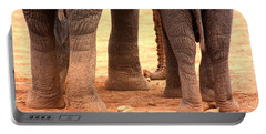 Portable Battery Charger featuring the photograph Elephant Family by Amanda Stadther