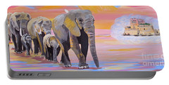 Elephant Fantasy Must Open Portable Battery Charger by Phyllis Kaltenbach