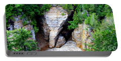 Elephant Head Rock Portable Battery Charger by Patti Whitten