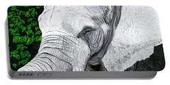 Portable Battery Charger featuring the painting Elephant II by Jeanne Fischer