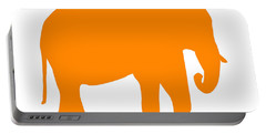 Elephant In Orange And White Portable Battery Charger