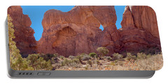 Portable Battery Charger featuring the photograph Elephant In The Rock by John M Bailey