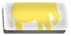 Elephant In Yellow And White Portable Battery Charger