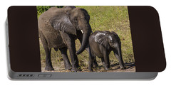 Elephant Mom And Baby Portable Battery Charger