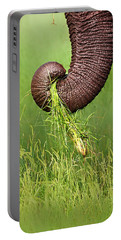 Elephant Trunk Pulling Grass Portable Battery Charger