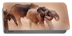 Elephants In Dust Portable Battery Charger