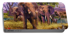 Elephants Portable Battery Charger by Jan Patrik Krasny