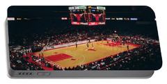 Elevated View Of Basketball Stadium Portable Battery Charger