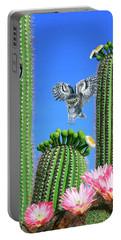 Elf Owls Of Saguaro Desert Portable Battery Charger