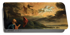 Elijah Taken Up Into Heaven In The Chariot Of Fire Portable Battery Charger