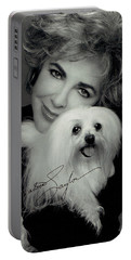 Elizabeth Taylor And Friend Portable Battery Charger by Studio Photo