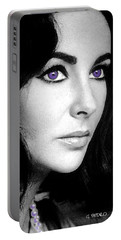 Elizabeth Taylor Portable Battery Charger by George Pedro