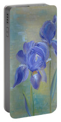 Elizabeth's Irises Portable Battery Charger by Judith Rhue