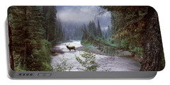 Elk Crossing 2 Portable Battery Charger by Leland D Howard