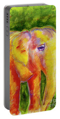Portable Battery Charger featuring the painting Elle by Beth Saffer