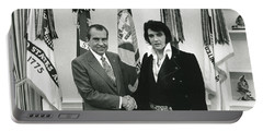 Elvis And Nixon Portable Battery Charger by Unknown
