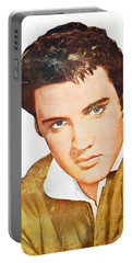 Elvis Colored Portrait Portable Battery Charger