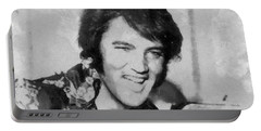 Elvis Presley Rock N Roll Star Portable Battery Charger by Georgi Dimitrov