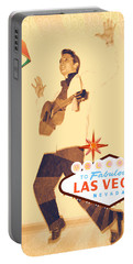 Elvis On Tv Portable Battery Charger