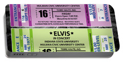 Portable Battery Charger featuring the digital art Elvis Presely Tickets by Marvin Blaine
