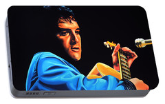Elvis Presley 2 Painting Portable Battery Charger by Paul Meijering