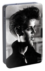 Elvis Presley Portable Battery Charger by Andre Koekemoer