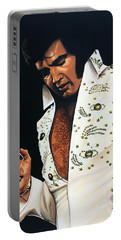 Elvis Presley Painting Portable Battery Charger
