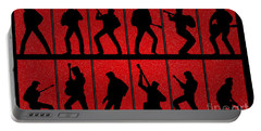 Elvis Silhouettes Comeback Special 1968 Portable Battery Charger by Liz Leyden