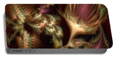 Portable Battery Charger featuring the digital art Elysian by Casey Kotas