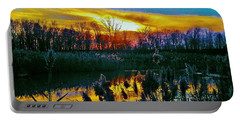 Portable Battery Charger featuring the photograph Emagin Sunset by Daniel Thompson