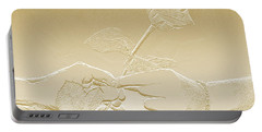 Embossed Gold Rose By Jan Marvin Studios Portable Battery Charger