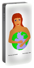 Embrace The World Portable Battery Charger by Fred Jinkins