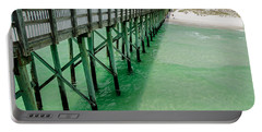 Portable Battery Charger featuring the photograph Emerald Green Tide  by Susan  McMenamin