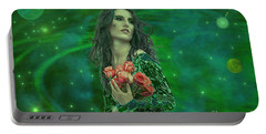Emerald Universe Portable Battery Charger by Michael Rucker