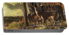 Eminence At The Forest Edge Portable Battery Charger by Rob Corsetti