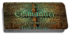 Emmanuel God With Us Portable Battery Charger